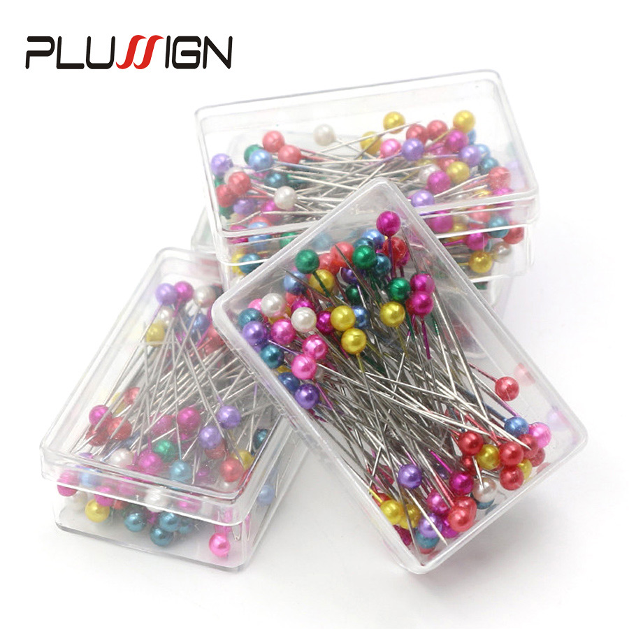 50 Pcs/Box Wholesale Dressmaking Straight Pins Round Pearl Head Mixed Color 36mm*4mm