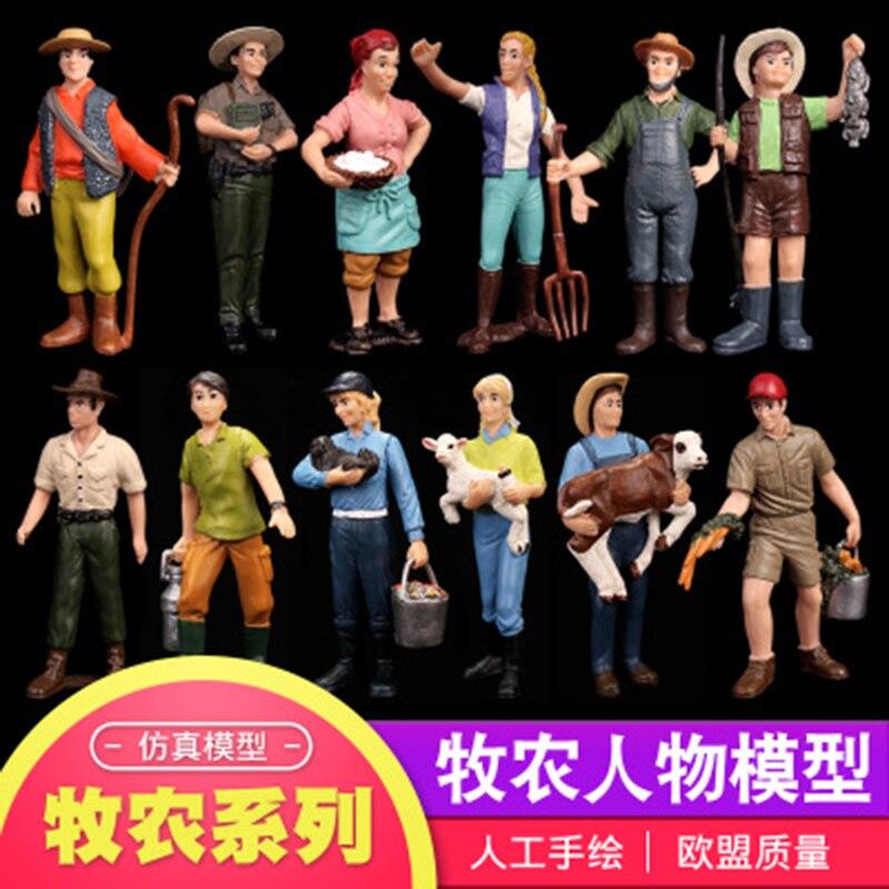 17 pièces PVC Ferme Figurines Modèles Jouets Bon Marché Enfants Meilleurs Cadeaux Décorations Affiche Scène Accessoires