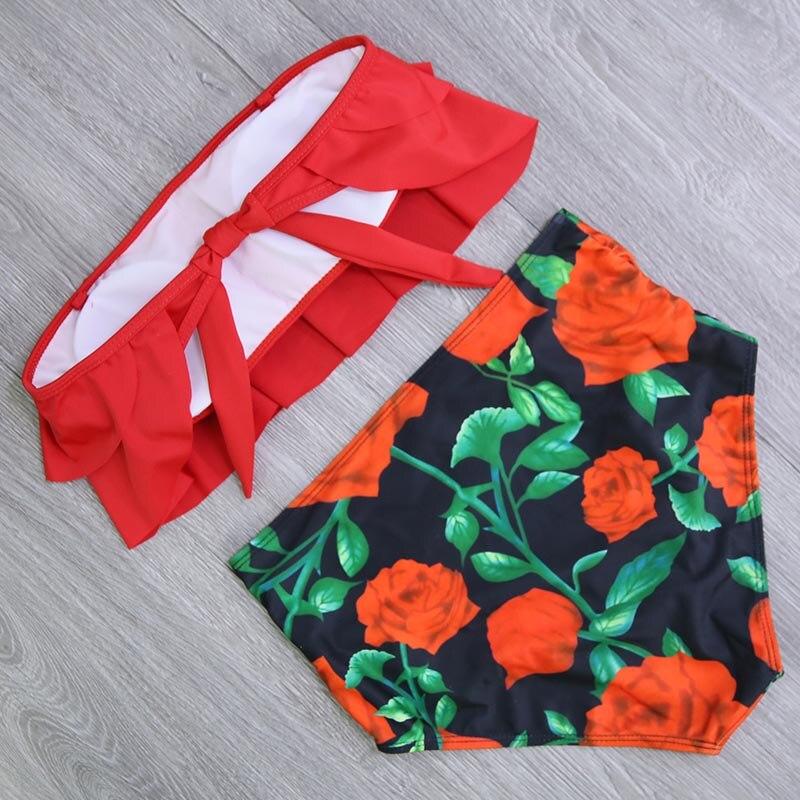 HTB12mogaV67gK0jSZPfq6yhhFXaf 2019 New Bikinis Women Swimsuit High Waist Bathing Suit Plus Size Swimwear Push Up Bikini Set Vintage Beach Wear Biquini