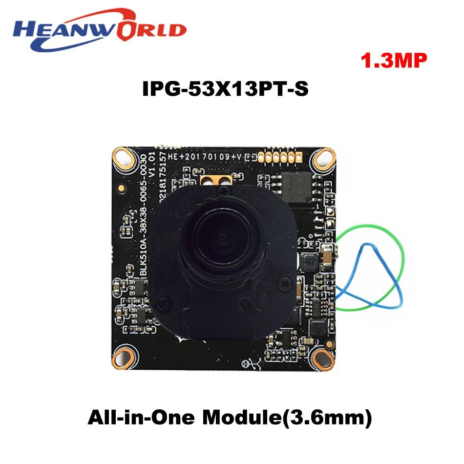 10pcs 1.3MP 960P IP Camera Main board module CCTV chipboard Network Camera with 3.6mm lens and IR-CUT ONVIF IP Board