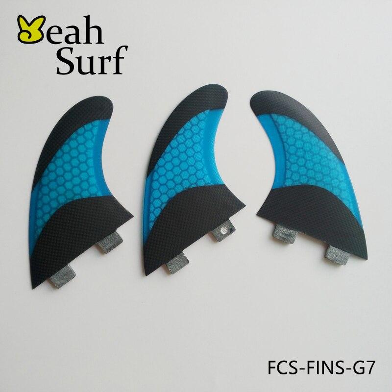 Sup ФТС Плавники G7 серфинга Fin биколор Honeycomb черный fin углерода Волокно G7 quilhas fin prancha де