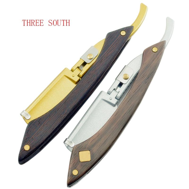 2018 folding knife  lwood handle Shaving hair cut razor professional hairdresser hair knives razor change blade type knife