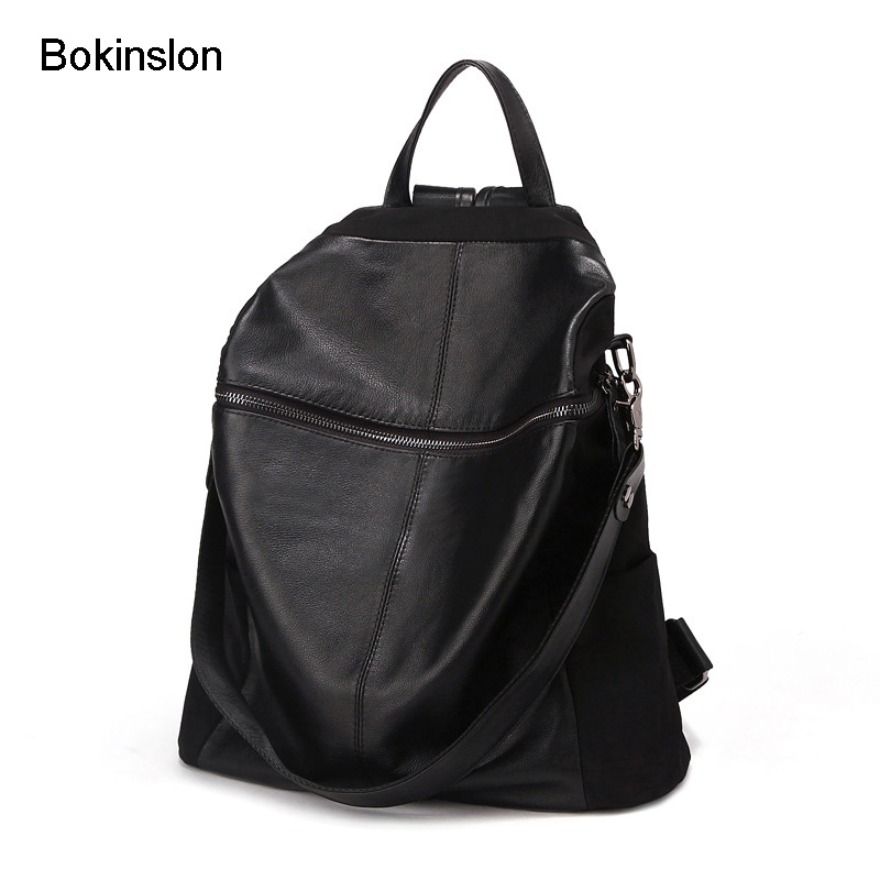 Bokinslon School Women Bag College Wind Travel Backpack Womens Fashion All-Match Backpack Female Bag Brand