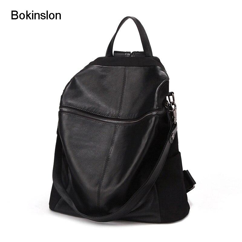 Bokinslon School Women Bag College Wind Travel Backpack Womens Fashion All-Match Backpack Female Bag Brand
