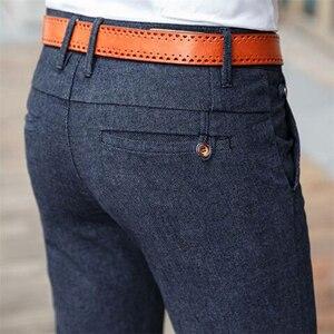 Image 1 - Брендовые классические четырехсезонные высококачественные мужские повседневные брюки HCYX 2019, мужские повседневные брюки, деловые прямые брюки, размер 38