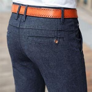 Image 1 - HCYX Marca 2019 quattro stagioni Classico di Alta qualità degli uomini di Casual Pantaloni Pantaloni Da Uomo Pantaloni di Affari di Casual Etero Taglia 38