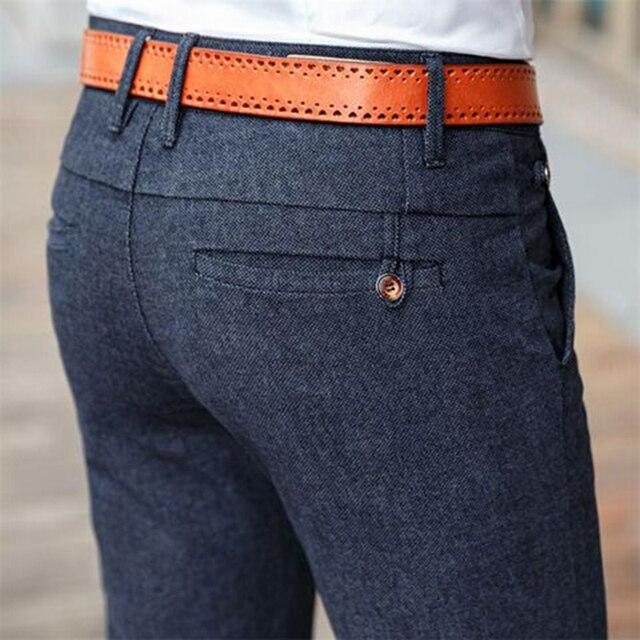 HCYX Marca 2019 quattro stagioni Classico di Alta qualità degli uomini di Casual Pantaloni Pantaloni Da Uomo Pantaloni di Affari di Casual Etero Taglia 38