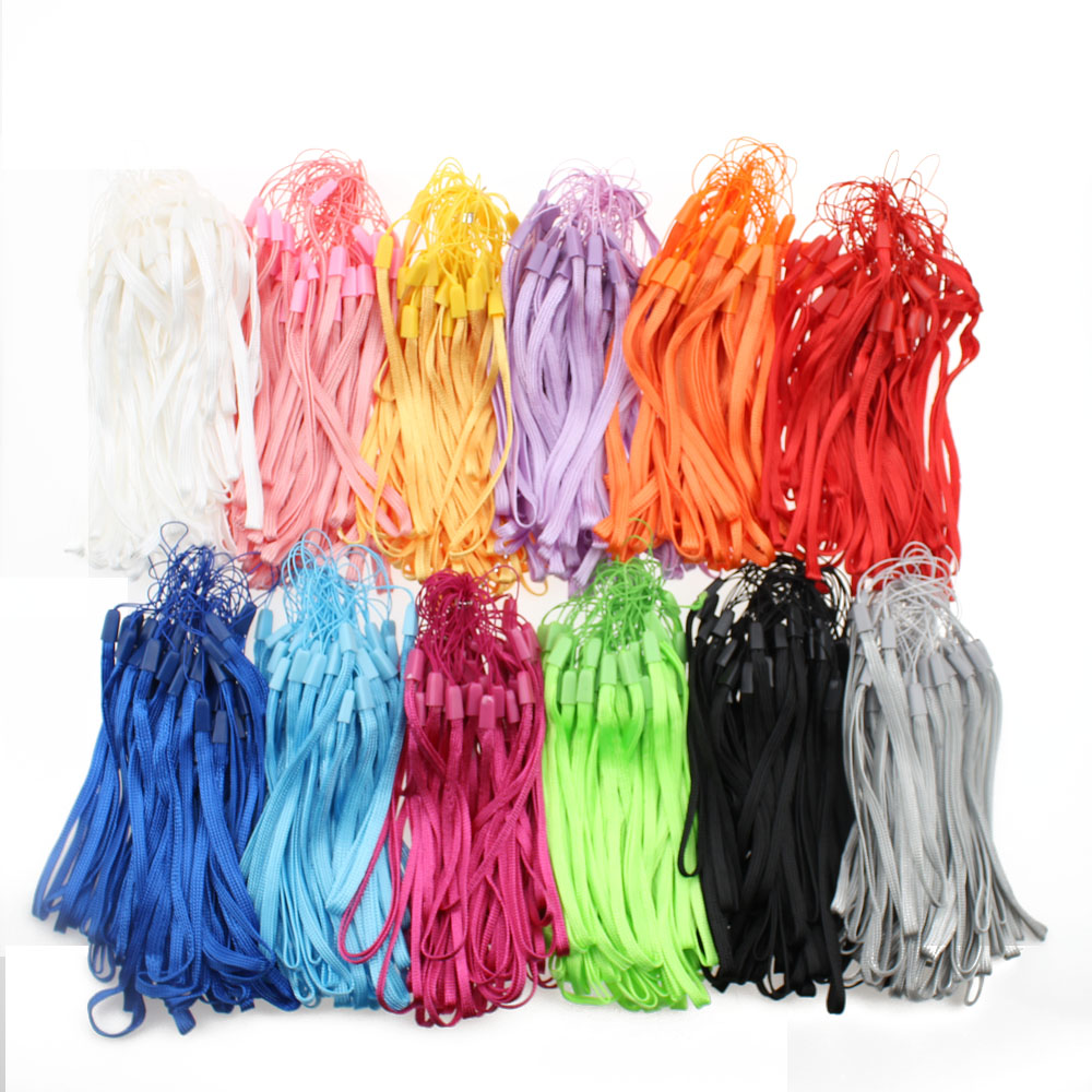 New cheapest hang Rope Belt Strap phone Lanyard For IPOD Phone Mp3 ID Key USB Drive Camera Mobile Phone Straps wholesale 1000pcs-in Mobile Phone Straps from Cellphones & Telecommunications