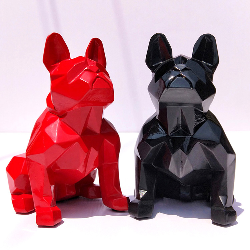 Nordic Geometric Bulldog Decoration Model Room Lucky Dog Sculpture Ornaments Act Decorations Opening Gifts Скульптура