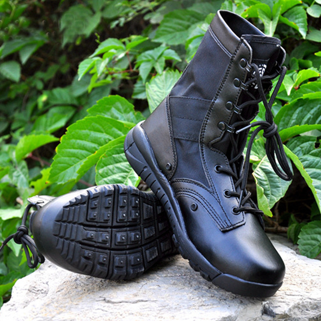 Combat Boots Black Sand New Autumn Summer Tactical Desert Boots for Hunting Trainning