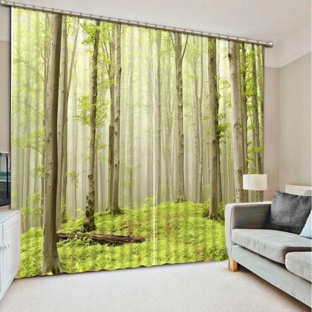 Forêt Verte 3d Rideaux De Fenêtre Pour La Literie Chambre Forêt