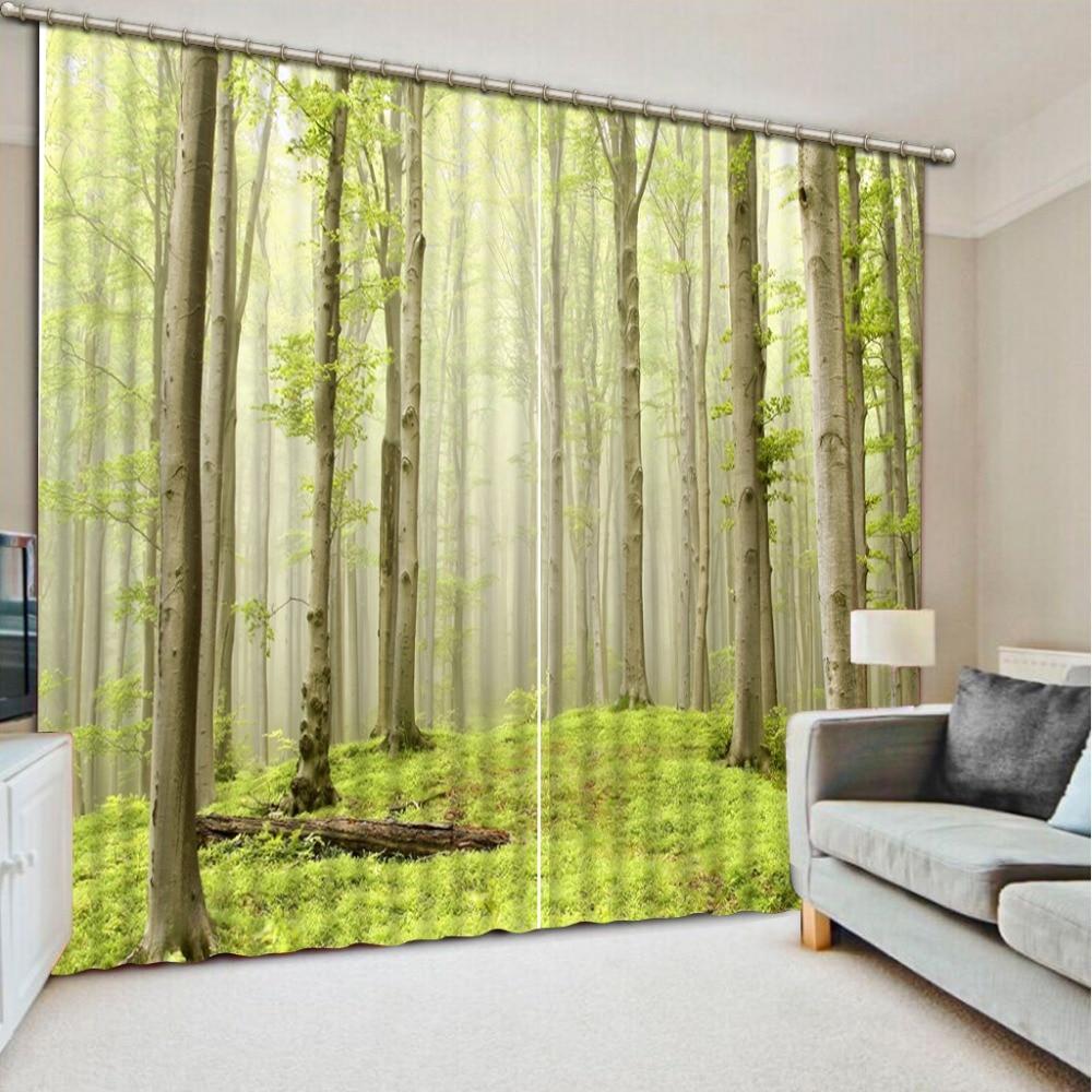 groene bos 3d gordijnen voor beddengoed kamer bos gordijn venster kamer woondecoratie in groene bos 3d gordijnen voor beddengoed kamer bos gordijn venster