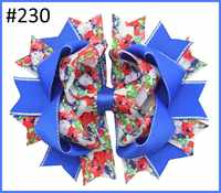 free shipping 12pcs Newest 4th of july hair bows Girl boutique hair bows Patriotic Bows fourth of july hair bows 122-137