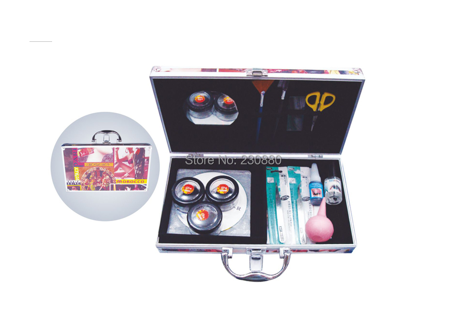 ФОТО Manufacturering professional world beauty red high quality  eyelash extension set/make up case