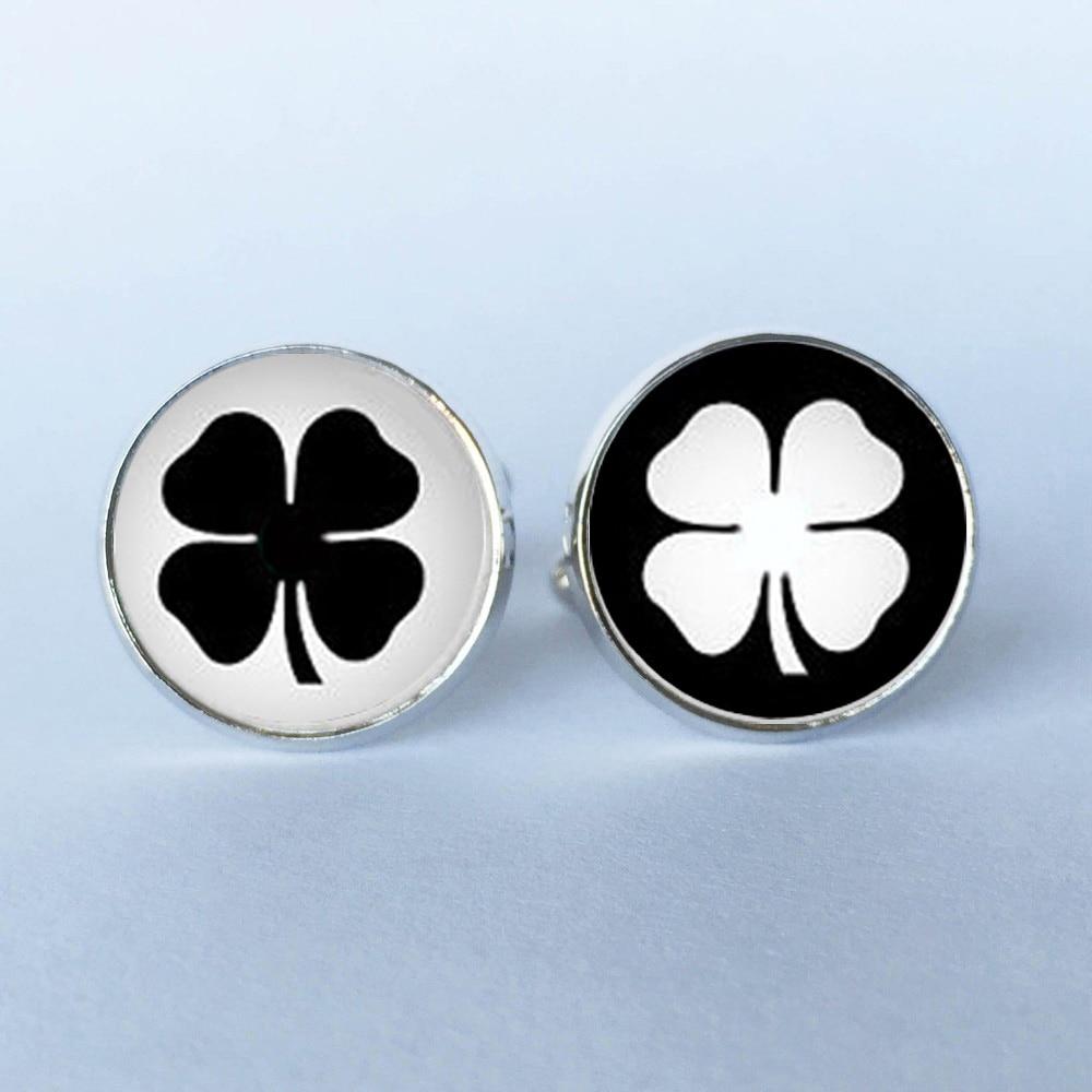 ③Trébol irlandés gemelos, hoja gemelos, gemelos en blanco y negro ...