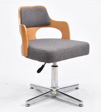 Real wood cabinet office chair. Small swivel chair. Computer chair. 005 the silver chair