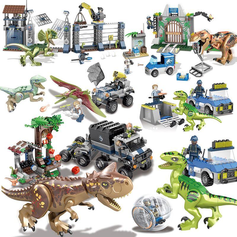 Jurassic World Dinosaur Park Set With 10925 10926 10928 10920 Model Building Blocks Bricks Toy Gift For Children