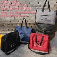 Travel storage folding bag increase thickening short-distance travel bag waterproof large capacity travel storage bag сумка meizu waterproof travel bag grey 74569