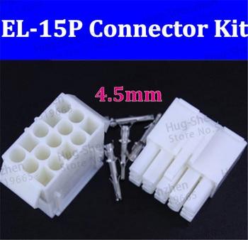 4.5mm 15P Mini.TAMIYA EL4.5 Male+Female Connector+terminal 50pcs  free shipping