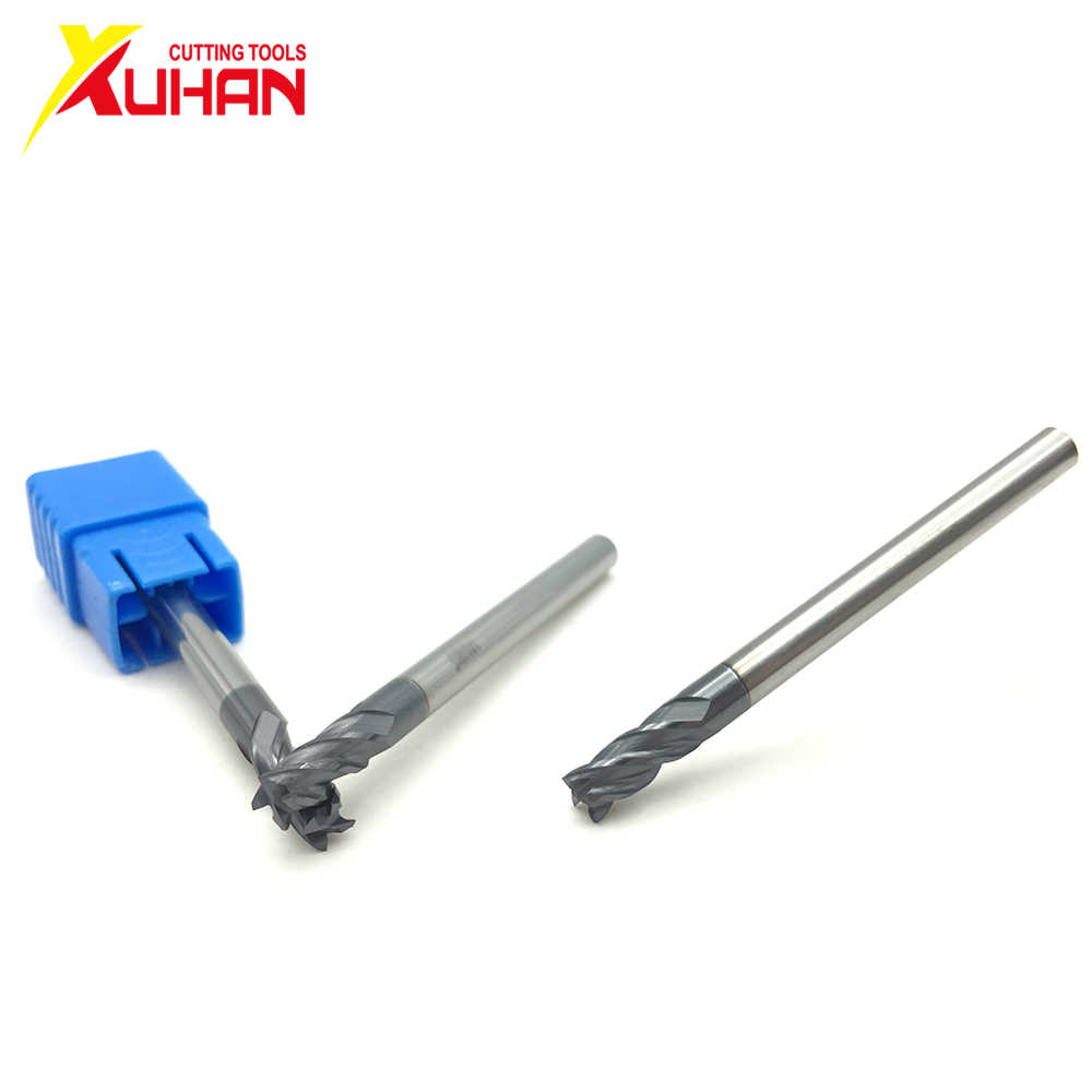 HRC50 1 2 3 4MM Carbide end mill Milling cutting Tools Alloy Tungsten Steel Milling Cutter EndMills CNC machine end mills