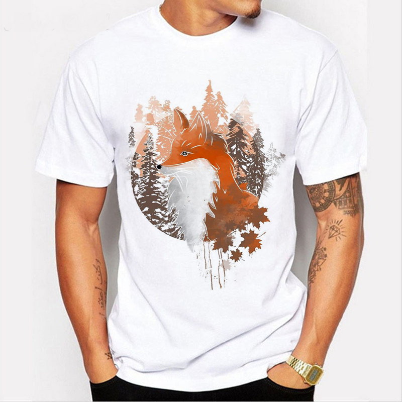 T-Shirt 3D Printed Bamboo Forest with Many Animals Casual Tees