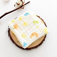 Детское Хлопковое полотенце, шестислойное газовое детское полотенце с рисунком, слюнявчик, полотенце для лица, высокое качество