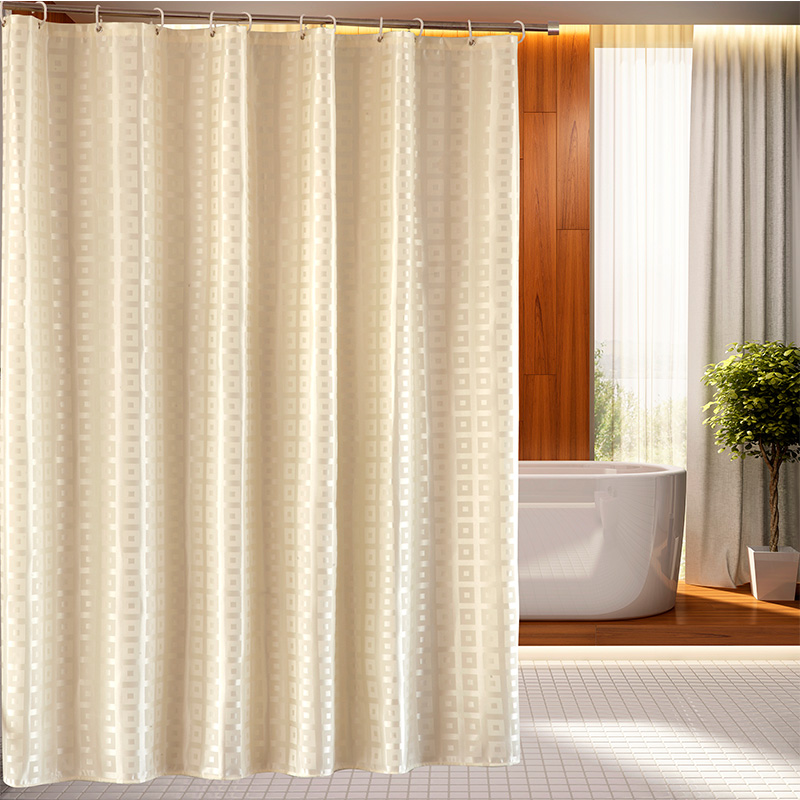Delightful Solid Shower Curtains Part   2: Solid Color Plaid Bathroom Shower  Curtain Mildew Proof