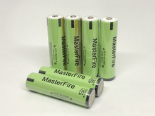 MasterFire 10pcs/lot Protected 3.7V 3200mAh NCR18650BM 18650 10A Current Power Tool Lithium Battery For Panasonic with PCB