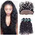 Lace Frontal Closure With Bundles 4 pcs Wet And Wavy Brazilian Virgin Hair Bundles With Frontal Closure Human Hair With Closure