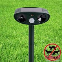 цена на New Solar infrared ultrasonic Animal dog Repeller Outdoor Garden Waterproof Frighten cat Mouse dog Animal Repeller dog equipment