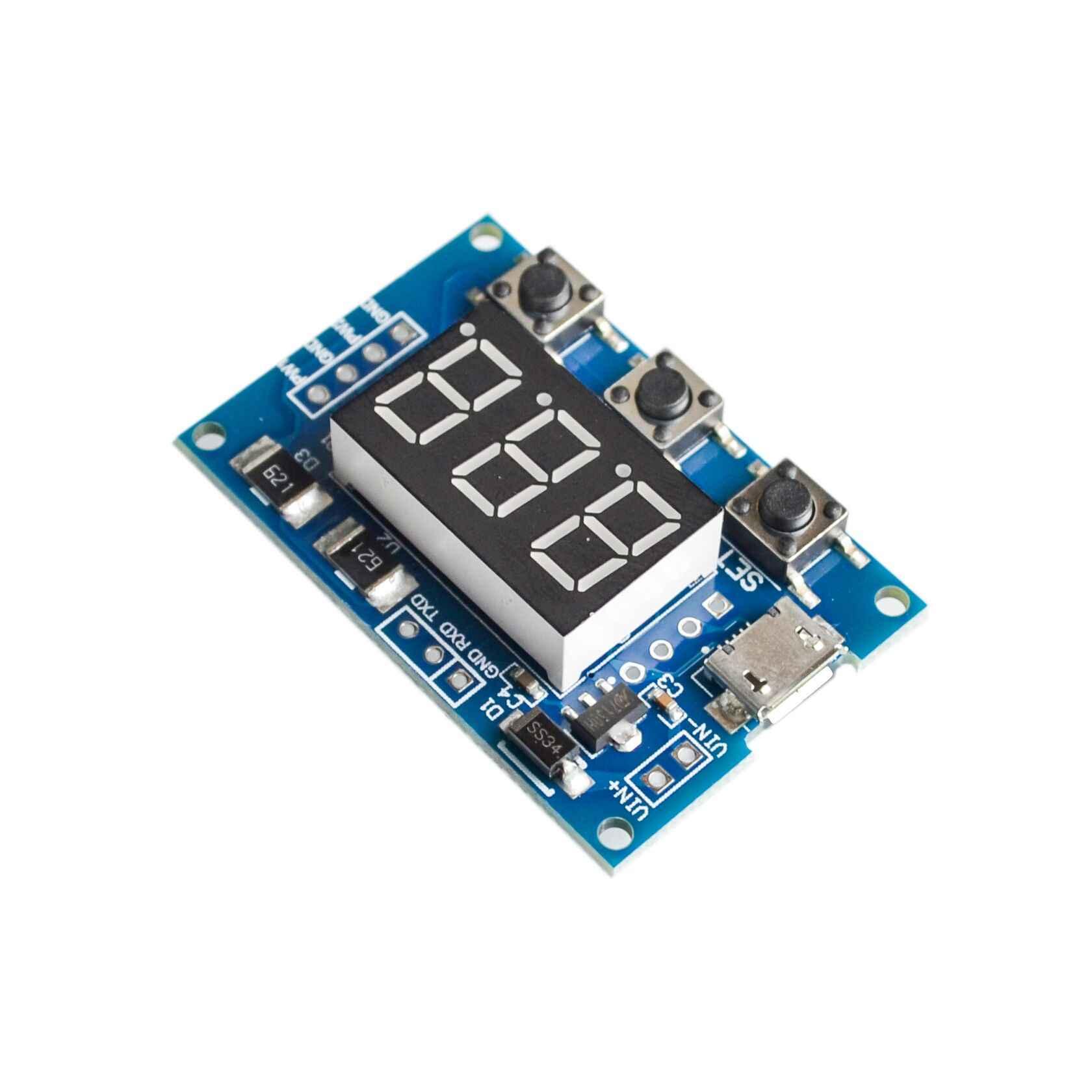 DC PWM Máy Phát Tín Hiệu Micro USB 2CH Điều Chỉnh Chu Kỳ Nhiệm Vụ Xung Tần Số Đèn LED Hiển Thị Kỹ Thuật Số Ống DC 5V 12V 24V 1Hz ~ 150KHz