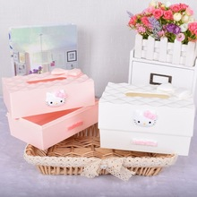 VKStory Life Plastic  Hello Kitty Storage Box For Tissue Warm Colours House Decoration