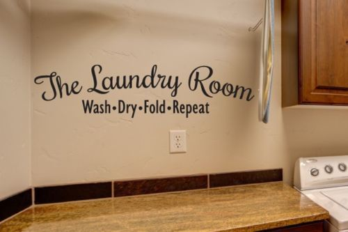 New 2015 Laundry Room Vinyl Wall Decal Laundry Letter Wash Dry Fold Repeat  Mural Wall Sticker Part 35
