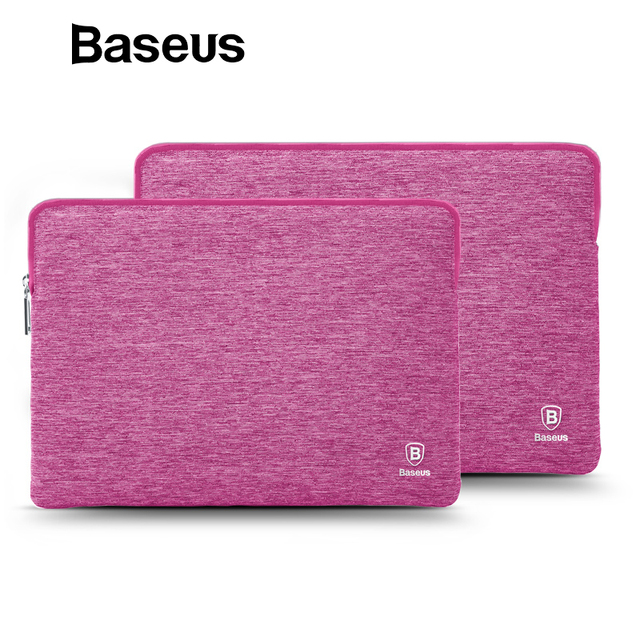 separation shoes 00165 a22f0 US $18.47 30% OFF|Baseus Laptop Bag for Macbook Air 13 Case Laptop Sleeve  For Macbook Pro 13 15 inch Soft Handbag Computer Tablet Pouch Bags-in  Laptop ...