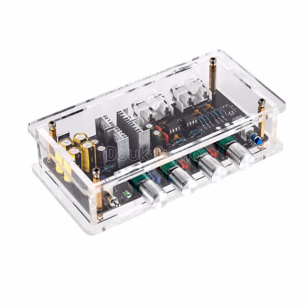 Douk Audio NE5532 HiFi Préampli Ton Contrôle Stéréo Pré-Amplificateur Bord avec Cas
