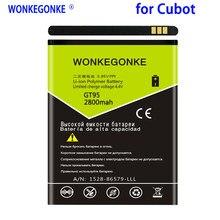GT95 WONKEGONKE 2800 mah Para Cubot Bateria Batterie Bateria Batterij