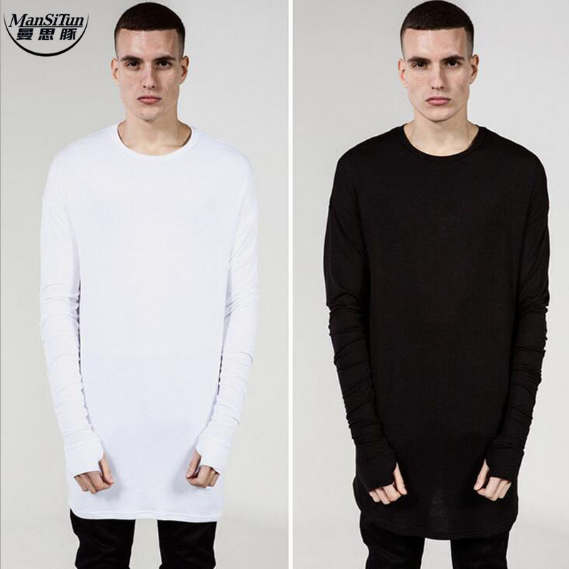 Extra long sleeve shirts artee shirt for Mens long sleeve white t shirt