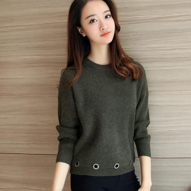 4369-2016 nuevo suéter de invierno suéter vestido de maíz 45