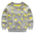 2017 осень зима новый симпатичные мальчики с длинными рукавами хлопок мальчик свитер дети одежда детей вязаный свитер