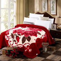 Super soft blanket Chinese style Thickened warm Polyester blanket