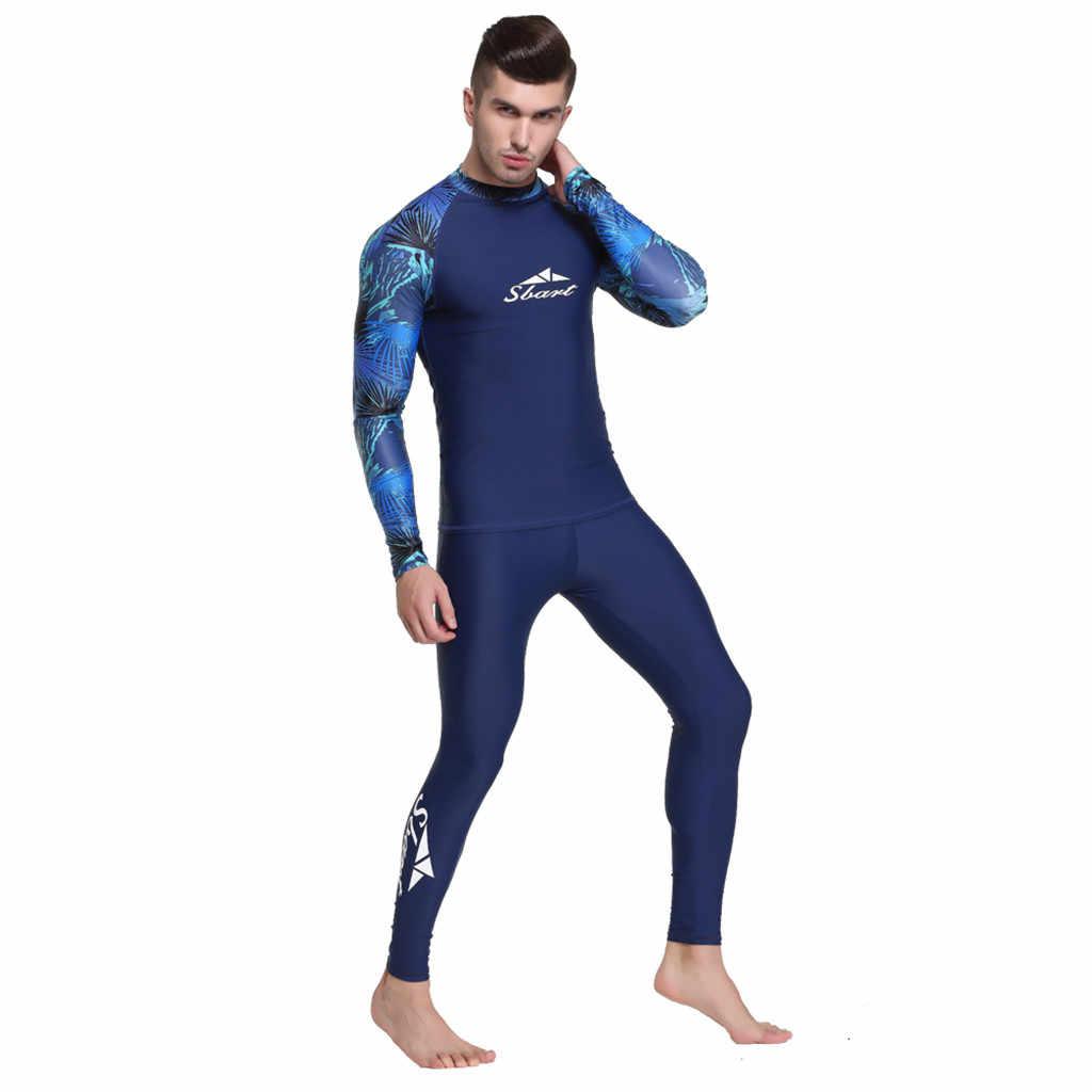 Womail erkek Üstleri dalgıç giysisi Sörf Takım Elbise Güneş Dalış Mayo Çabuk kuruyan Uzun kollu Güneş Koruyucu Sörf Giyim
