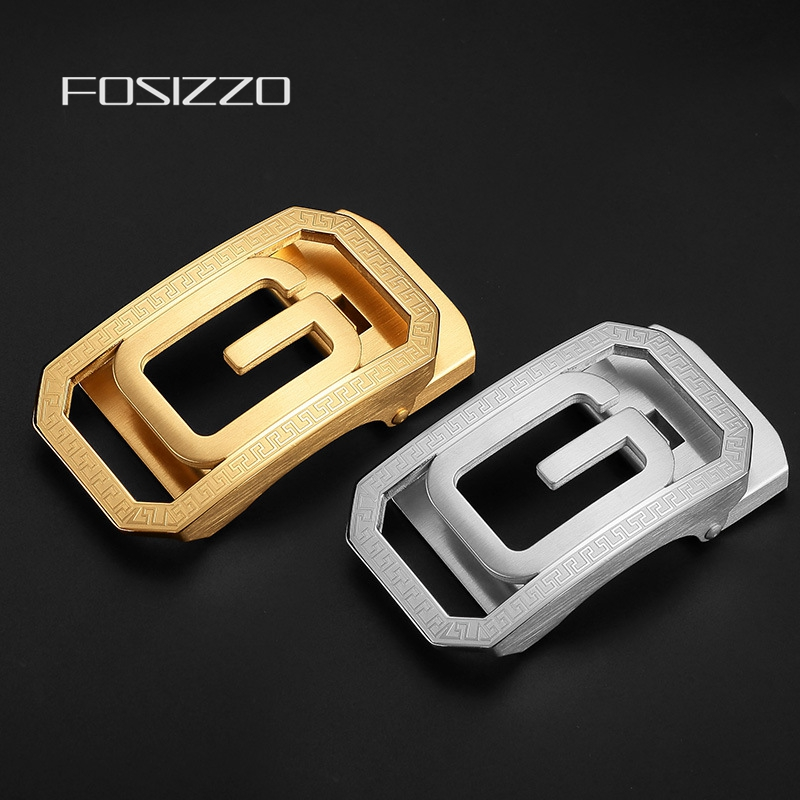 FOSIZZO Automatic Buckle Stainless Steel Not Easy Rust And Paint Off Buckle Width 3.9CM((Fit 3.3-3.5CM Strap) GK1
