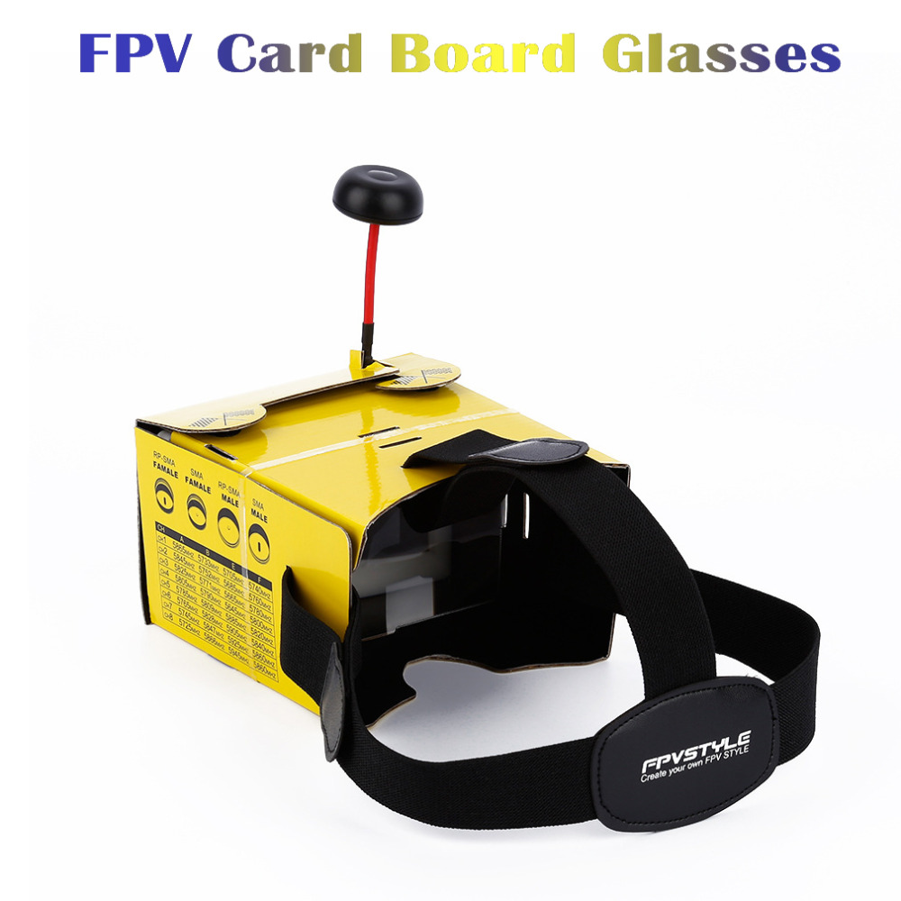 1 Piece Yellow Paper Card Board FPV Video Glasses Goggles for  5 Inch / 4.3 Inch Monitor RC Quadcopter Drones Helicopter f04305 sim900 gprs gsm development board kit quad band module for diy rc quadcopter drone fpv