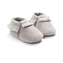 Искусственная замша кожа Новорожденные детские мокасины обувь с мягкой подошвой Нескользящая детская кроватка Первые ходунки
