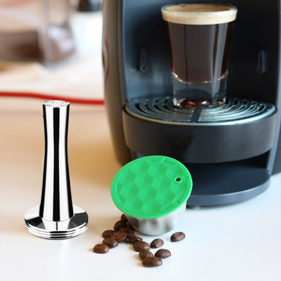 Stainless Metal Rusable Dolce Gusto fit for Nescafe with Filter uesed 200 time Coffee Ground Tamper Coffee Spoon Clip