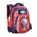Водонепроницаемый Рюкзак для Детей Школьные сумки 3D Мультфильм Большой Емкости Россия Стиль Ортопедические Школьные сумки Для Мальчиков Автомобиля Сверхлегкий