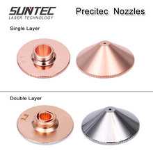 Suntec Precitec/WSX Laser Nozzles Single Layer Dia.28mm Calber 4.5-5.0mm for Precitec/WSX laser cutting head 10pcs/lot цена