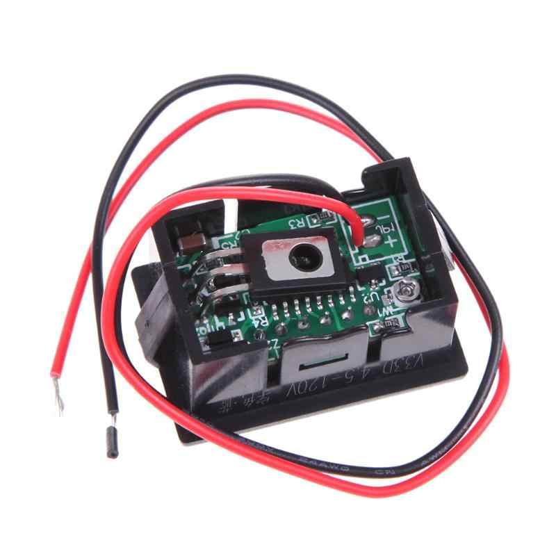 """0.36"""" DC4.5-120V LED Car Digital Display Panel Volt Meter Voltmeter Auto For 36V 48V Automobile Motorcycle Auto Voltmeter"""