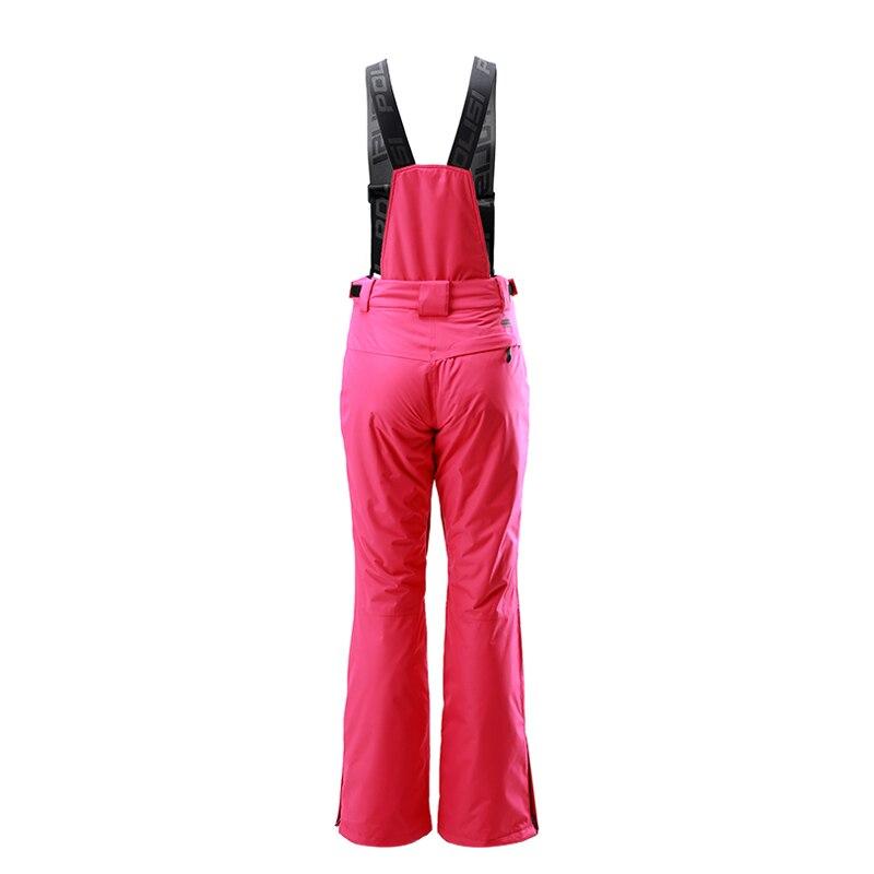 Nouveau professionnel thermique chaud Ski bavoir pantalon imperméable coupe-vent en plein air Sport Snowboard pantalon femmes Ski neige pantalon - 4