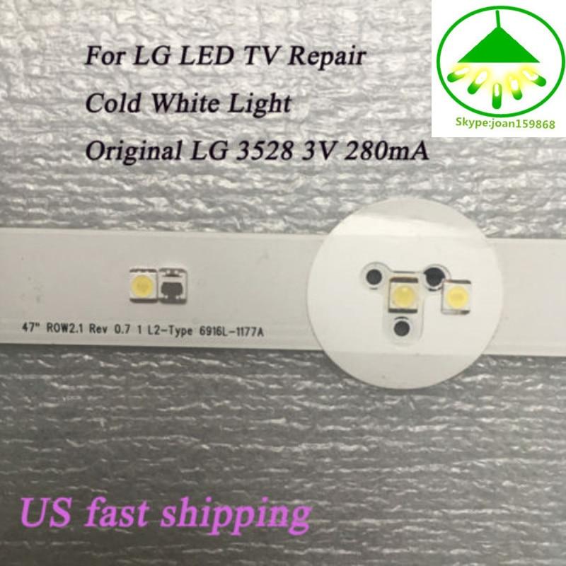 200Pcs 3528 SMD Lamp Beads 3V Specially For LG LED TV Backlight Strip Bar Repair